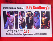 Ray Bradbury Wisdom 2116 Signed Theatre Card. His Last Play W/ Letter Of Auth.