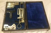 Antique Willcox And Gibbs Chain Stitch Sewing Machine Accessories And Case