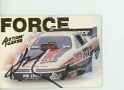 John Force Autograph 1994 Action Packed 39   Drag Racing Photo