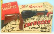 Vintage 1950's Toy Louis Marx The Enforcer Tommy Gun 50 Shot Repeater In Package