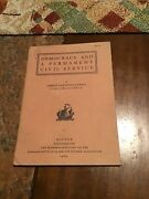 Democracy And A Permanent Civil Service Book By Abbott Lawrence Lowell