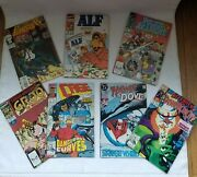 Marvel And Dc Comic Books Vintage Lot Of 7 Variety Of Grest Titles Holiday Gift
