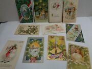 Vintage Postcards 1905 1915 Christmas And New Years Lot Of 11 1900s Early Old