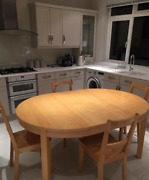 Expanding Wooden Kitchen Table And 4 Chairs