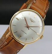 Vintage And Very Fine Longines Automatic 18 Kts Solid Gold Made In 50and039s