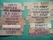 Lot Of23vietnam War Vintage Us Army Soldiers Uniform Name Tapes