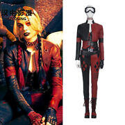 Hzym Harley Quinn Cosplay Costume Suicide Squad Leather Outfit Women Halloween