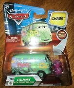 Disney Pixar Cars Fillmore With Organic Cans - Chase Final Lap - Moving Eyes