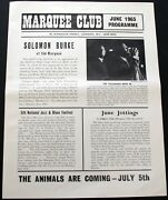 The Yardbirds, The Who, The Moody Blues, Rod Stewart Flyer Marquee June 1965