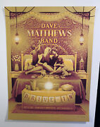 Dave Matthews Band West Palm Beach Fl Drive In Poster S/n Only 30 Foil Rare