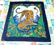 Hermes Large Jungle Love Blanket Throw - Excellent Cond. - Extremely Rare