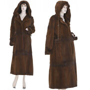 New M 19k Made In Italy Super Lux Chic Sheared Mink Fur Tiered Hooded Coat