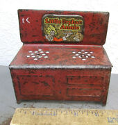 Vintage Little Orphan Annie Tin Toy Stove, Paint And Graphics A Bit Rough, Fun Toy