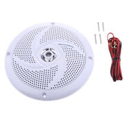 6.5 Inch Marine Speakers Stereo Sound - Waterproof White For Boat Car Rv