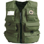 Mustang Survival Miv-10-s-ol Inflatable Fishermanand039s Vest Manual Sm Olive