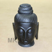 Handmade Buddha Head For Home Decor Made With Black Marble Stone / Free Shipping