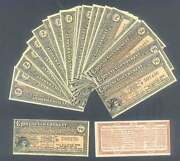 10 X China Andpound20 Bond Coupons 1913 Gold Loan In German English French Russian Unc
