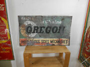Rusty Old Oregon Chainsaw Large 39 X 24 Gas And Oil Car Truck Garage Tin Sign