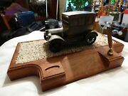 Ink Pen Holder With 1926 Ford Model.....old......was An Award From Ford Motor Co