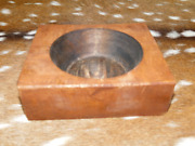 Lot Of 20, 1 Hole Wooden Sugar Mold Wood Candle Holder Primitive Cheese Butter
