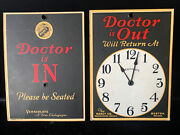 Vintage Marcy Co. Chemists Boston Ma - The Doctor Is In/out Sign