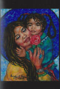 Sandy Austin Stein Madonna Of Special Moments Painting Native American Child