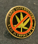 Los Angeles Police Dept Dope Busters Lapd Olympic Hat Lapel Pin 1984