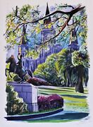 Watercolor And Ink Painting St. Louis Cathedral New Orleans By Alexander Fedorsky