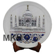 Decorative Platter For Display, Handmade Marble Inlay Plate, Christmas Presents