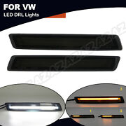 For Vw Beetle 06-10 Sequential Led Turn Signal Light Daytime Running Lamp Drl 2x