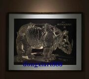 75x95 Cm Chinese 100 Hand-carved Bronze Rhinoceros Paintings Porch Murals