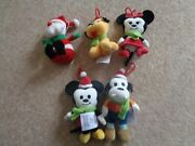 Disney Mickey Mouse And Ty Christmas Tree Decorations