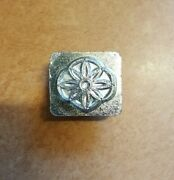Vintage 3d Craftool Co Usa Leather Stamp, Girl Scout Daisy, 8485