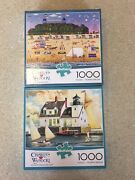 Charles Wysocki 1000 Piece Puzzles Rockland Breakwater Light And The Nantucket