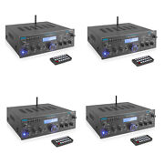 Pyle Compact 200 Watt Bluetooth Home Stereo Amplifier Receiver System 4 Pack