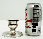 Italian Sterling Silver Lare Sized Candle Votive Holder 1 Andfrac12andrdquo Marked 800 176f