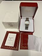 Tank Francaise Two Tone Silver Dial Automatic Mens Watch W51005q4