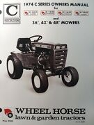 Wheel Horse C-100 C-120 C-160 Lawn Garden Tractor And 36 42 48 Mower Owners Manual