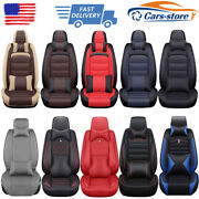 11pcs Pu Leather Car Seat Covers Full Set Front And Rear For 5-seat Auto Suv Truck