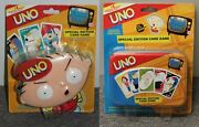 2-set Family Guy Uno Stewie Special Edition Card Games Fox Tv Show 2004 2006 New