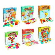 Set Of 6 Geopuzzles In Individual Boxes — Educational Geography Jigsaw Puzzles —