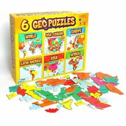 6+ Geopuzzles Set In One Box — Educational Geography Jigsaw Puzzles For Ages 4 A