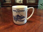 White And Blue Porcelain Historic Towne Of Smithville Nj New Jersey Coffee Mug