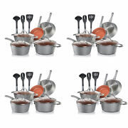 Nutrichef Nonstick Cooking Kitchen Cookware Pots And Pans, 11 Piece Set 4 Pack