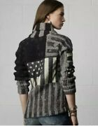 38. Denim And Supply Flag Star Cardigan Heavy Knit M Preowned