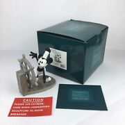 Wdcc Disney Mickeyand039s Debut Steamboat Willie 5 Year Charter Sculpture W/box And Coa