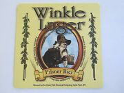 Beer Collectible Coaster Hyde Park Brewing Co New York Winkle Lager Pilsner