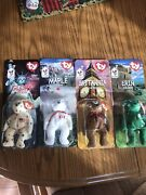 Complete Set Of 4 Ty Beanie Babies - Ronald Mcdonald House Charities - 1997