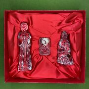 16-piece Waterford Crystal Christmas Nativity Set Complete Great Condition