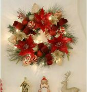 Christmas Front Door Wreath With Artificial Greenery Spruce